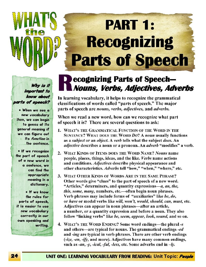 C-02.03 Be Aware of Parts of Speech