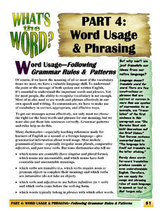 C-02.04 Consider Word Grammar, Usage, and Phrasing