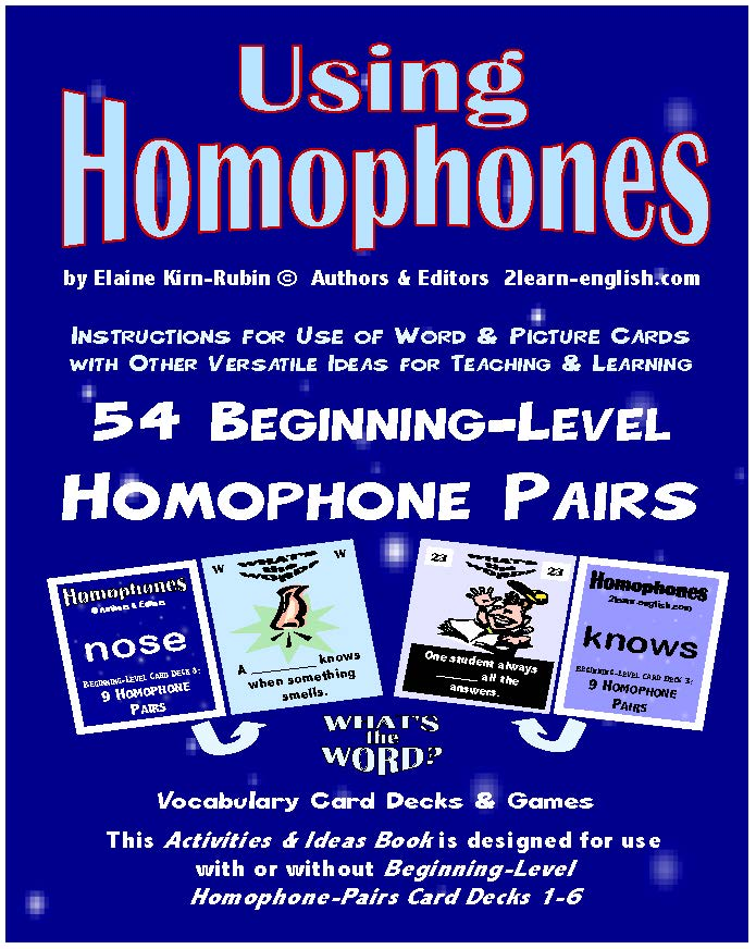 C-05.4 Using Homophones Book Beginning Level; Reasons & Instructions
