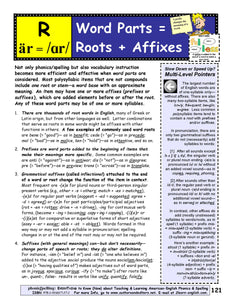 C-06.01 Teach Word Parts = Roots & Affixes