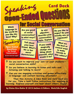 Open ended questions poster