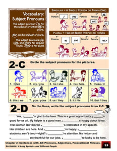 D-01.06 Understand & Make Statements with BE + Pronouns, Adjectives, & Prepositional Phrases