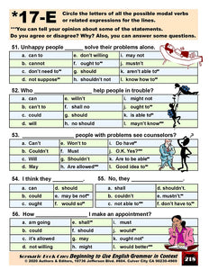 D-06.09 Use Simple Modal Verb Phrases & Related Expressions
