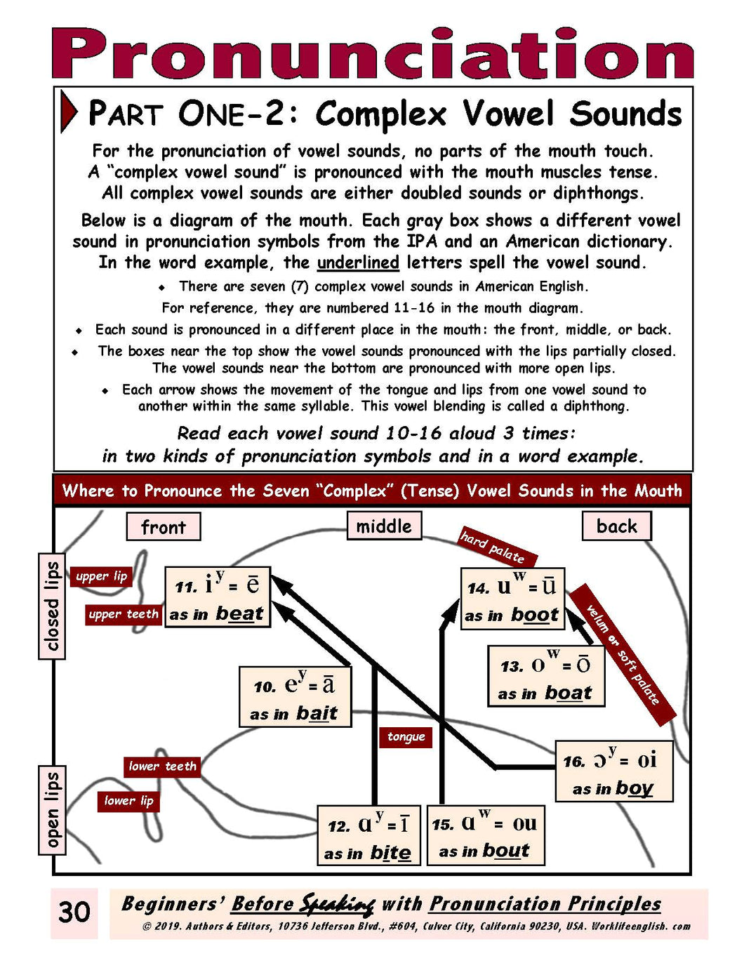 E-01.04 Focused on Complex  Vowel Sounds, Describe Singular & Plural Items