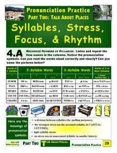 E-02.02 Recognize & Contrast Numbers of Syllables & Syllable-Stress Patterns in Place Description