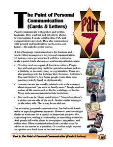 G-9 The Point of Personal Communication (Cards & Letters)