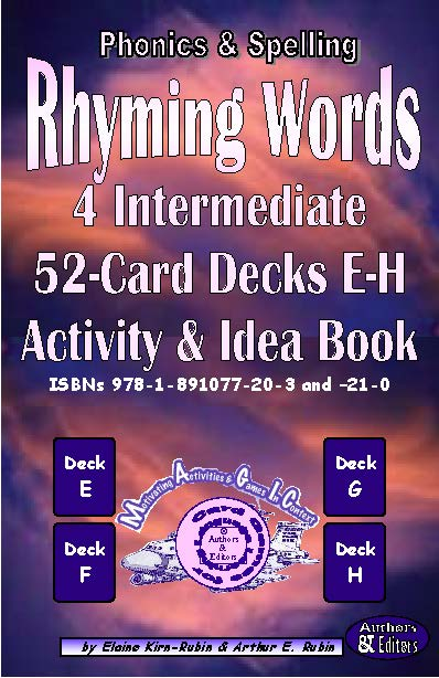 Rhyming Words <br/> Level 3 = Intermediate <br/> Four 52-Card Decks E-H + 56-Page Activities & Ideas Book