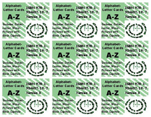 A-16: Alphabet Letter Cards Aa to Zz: Five 104-Card Packs + 24-Page Activities & Ideas Book