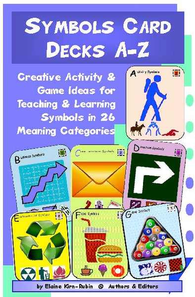 Symbol Card Decks A-M & N-Z, two 54-Card Picture Decks + 36-Page Activities & Ideas Book