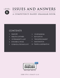 Grammar Text<br/>Work/Life English Level 6 (of 6) Student; 180-pages