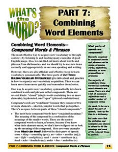C-4.2 Create & Use 3 Kinds of Compound Words & Phrases