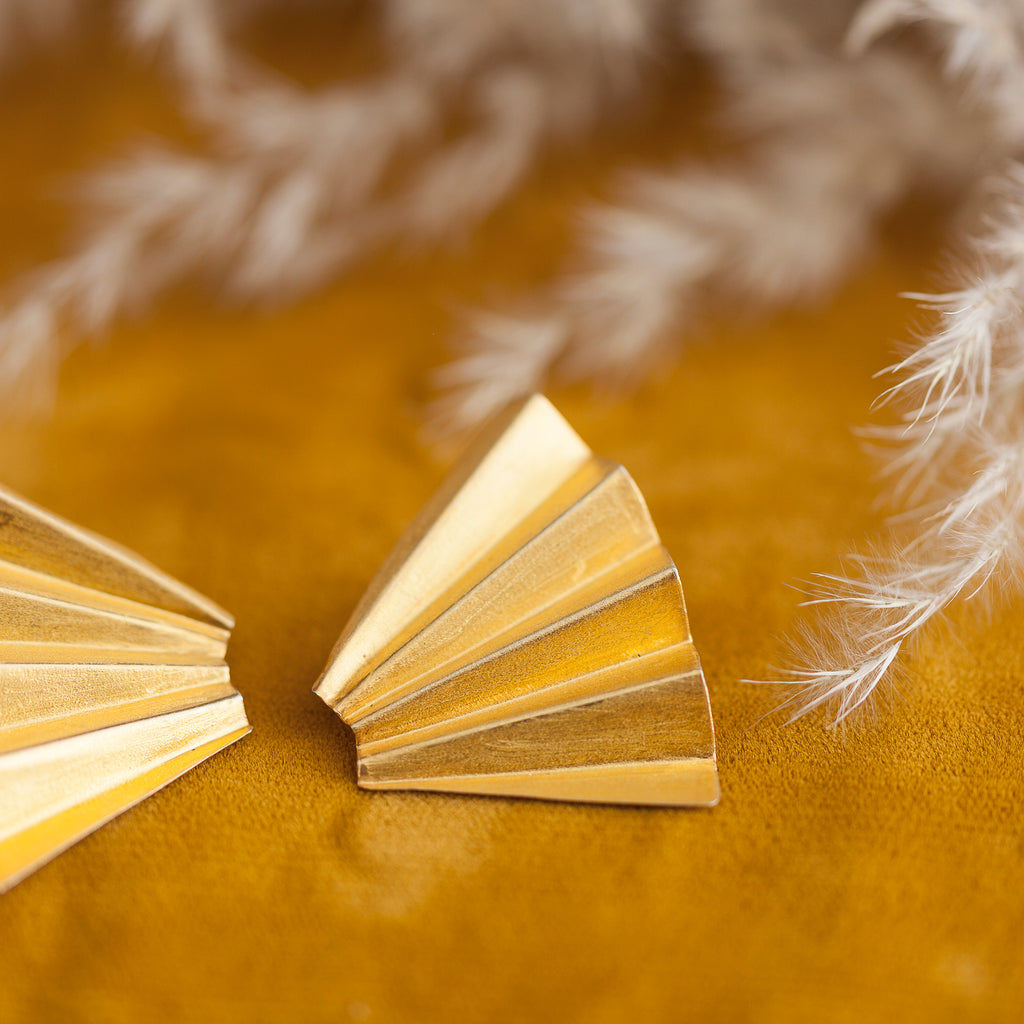 Quarter Fan Earring