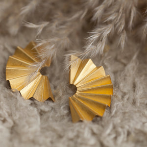 Half Fan Earrings