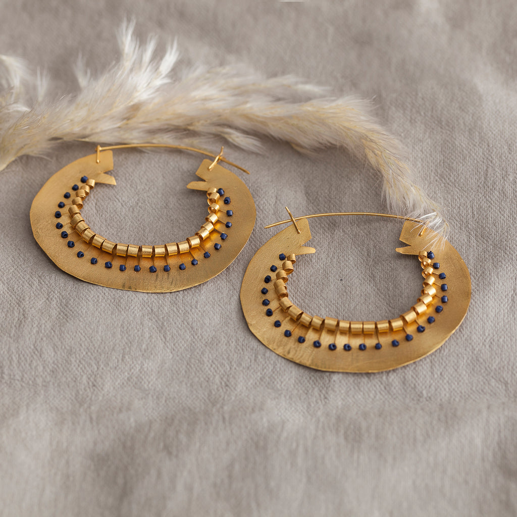 Beaded Full Circle Earring