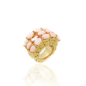 Dew Pink Coral Ring