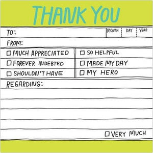 Hand-Lettered Thank You Sticky Notes