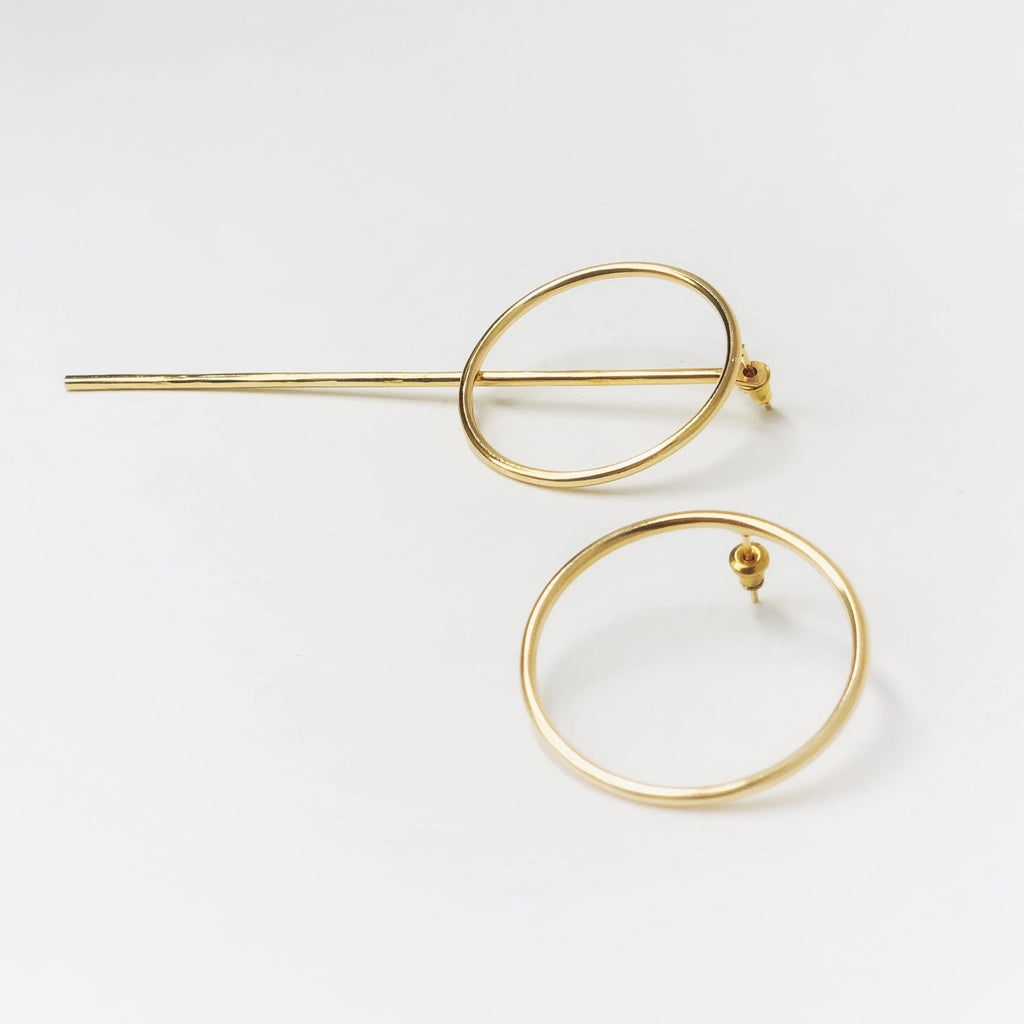 Trendy Earring Gold Large