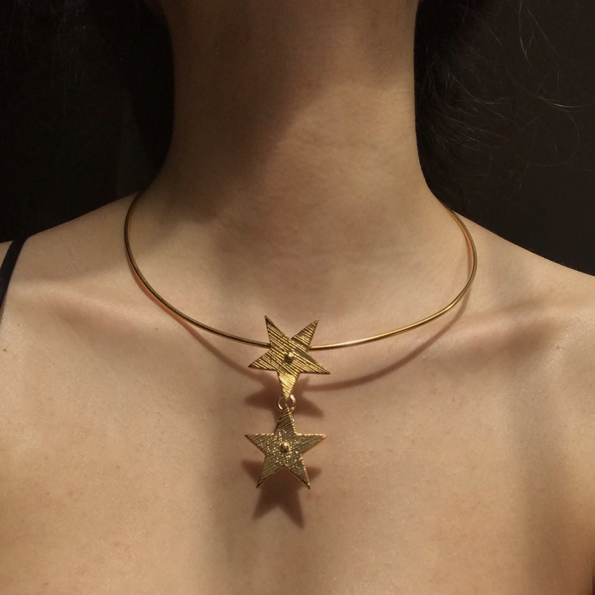 Duo Star Necklace