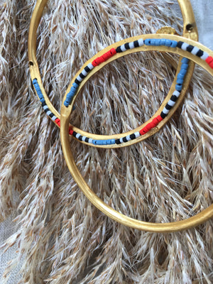 Hoop with Beads