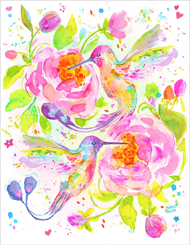 Fine Art Print - Hummingbird Love