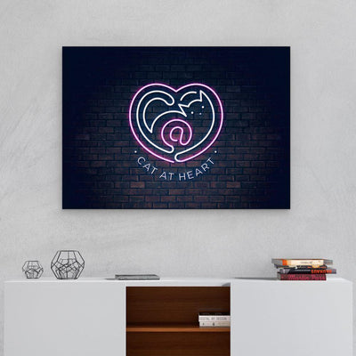 Cat at Heart - Canvas