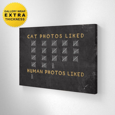 Cat vs Human Photos Liked - Canvas