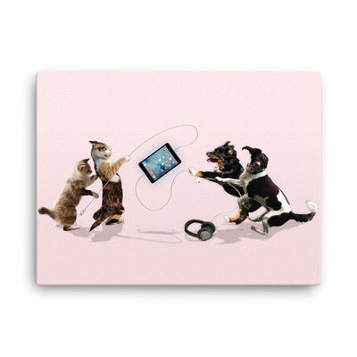 Cats vs Dogs iPad Tug of War - Canvas