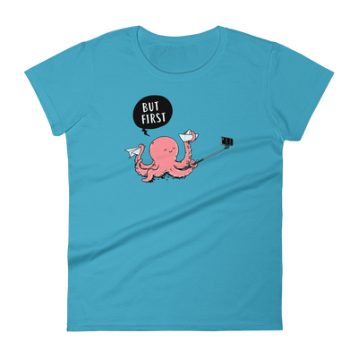 Selfie Octopus - Women's short sleeve t-shirt