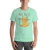 Selfie Cat with Two Fish - Short-Sleeve Unisex T-Shirt