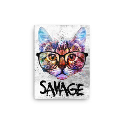 Savage Nerdy Cat - Canvas