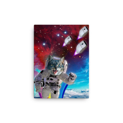 Cat Chasing Mouse in Space - Canvas