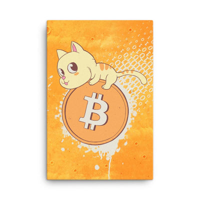 Bitcoin Cat - Canvas