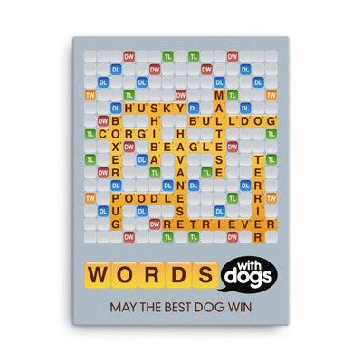 Words With Dogs - Canvas