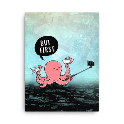 Selfie Octopus - Canvas