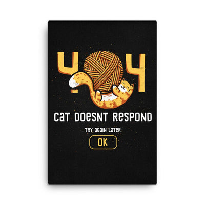 404 Cat Doesn't Respond - Canvas