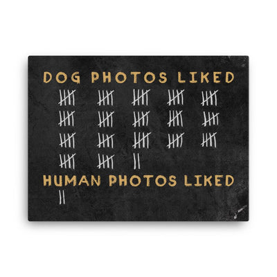 Dog vs Human Photos Liked - Canvas