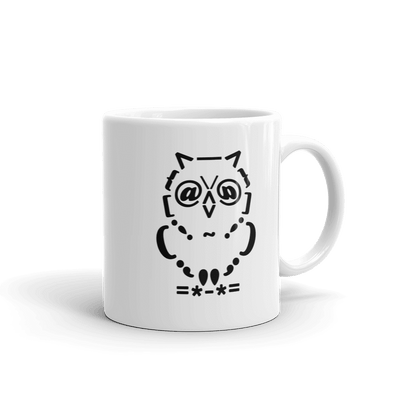 Pets In Tech 11oz Ascii Owl - Mug