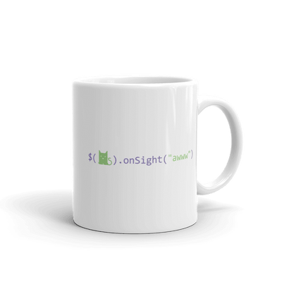 Pets In Tech 11oz Awww on sight Cat - Mug