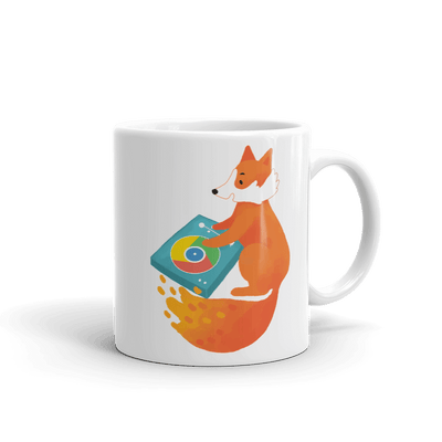 Pets In Tech 11oz Chrome DJ Firefox - Mug