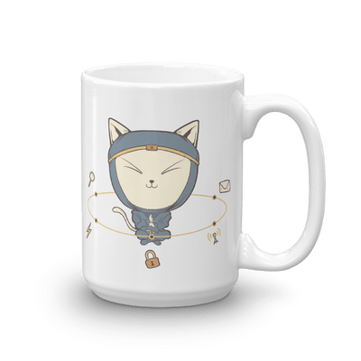 Pets In Tech 15oz App Ninja Cat - Mug