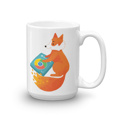 Pets In Tech 15oz Chrome DJ Firefox - Mug