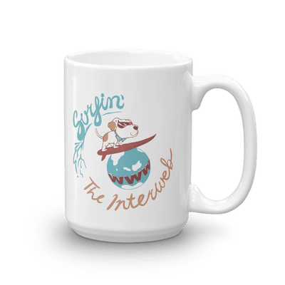 Pets In Tech 15oz Surfin' the Interweb Puppy - Mug