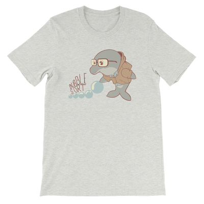 Pets In Tech Ash / S Bubble Sort Dolphin - Short-Sleeve Unisex T-Shirt