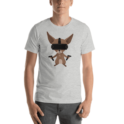 Pets In Tech Athletic Heather / S Virtual Reality Chihuahua - Short-Sleeve Unisex T-Shirt