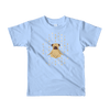 Pets In Tech Baby Blue / 2yrs 1s 0s Meditating Pug - Short sleeve kids t-shirt