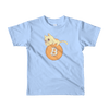 Pets In Tech Baby Blue / 2yrs Bitcoin Cat - Short sleeve kids t-shirt