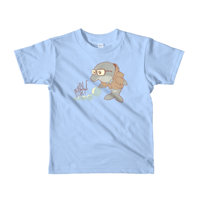 Pets In Tech Baby Blue / 2yrs Bubble Sort Dolphin - Short sleeve kids t-shirt