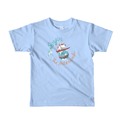 Pets In Tech Baby Blue / 2yrs Surfin' the Interweb Puppy - Short sleeve kids t-shirt