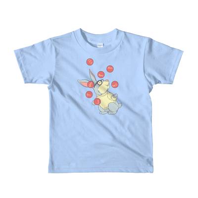 Pets In Tech Baby Blue / 2yrs Web Developer Rabbit - Short sleeve kids t-shirt