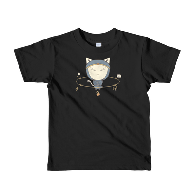 Pets In Tech Black / 2yrs App Ninja Cat - Short sleeve kids t-shirt